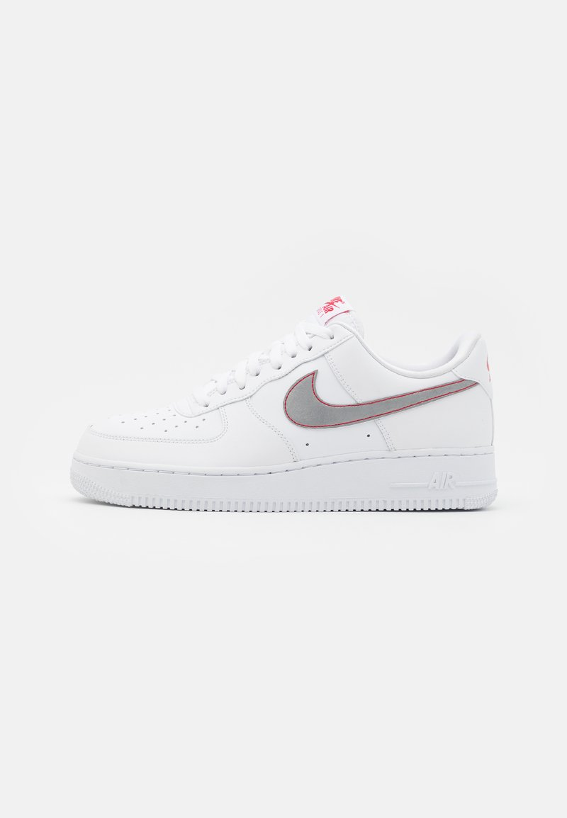 Nike Sportswear - AIR FORCE - Trainers - white/silver/anthracite/university red