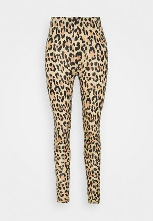 VIBE PRINT - Leggings - biege/black
