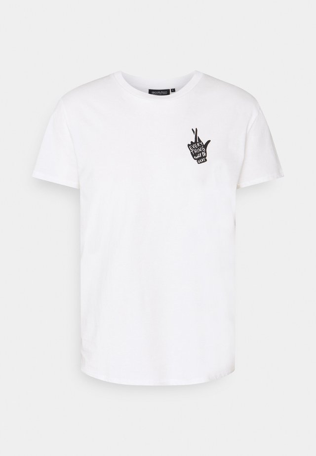 CASUAL CROSSEDFINGERS - Print T-shirt - white