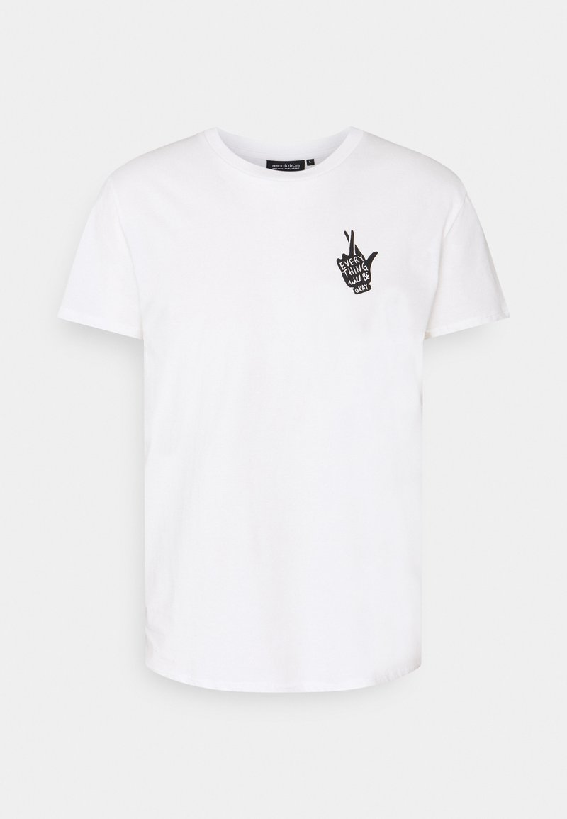 recolution - CASUAL CROSSEDFINGERS - Print T-shirt - white