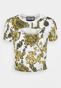 Versace Jeans Couture - Print T-shirt - white/gold - 5