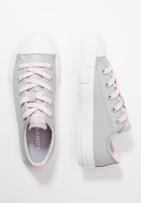 Converse - CHUCK TAYLOR ALL STAR SPARKLE LACE - Sneakers - wolf grey/pink foam/white - 0