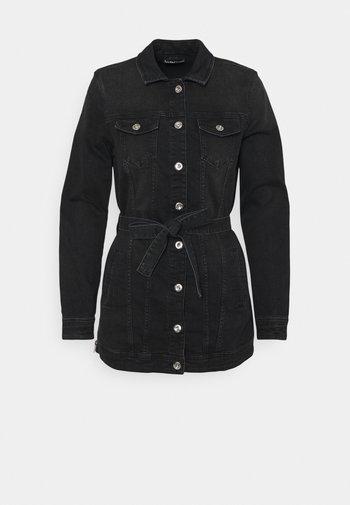 ONLTIA LIFE LONG BELT  - Denim jacket - black denim