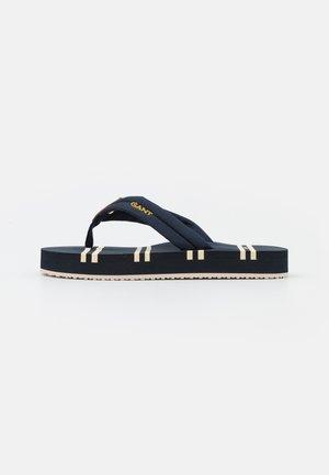 LEMONBEACH  - T-bar sandals - marine