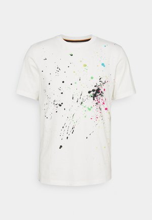 GENTS PAINT SPLATTER UNISEX - Print T-shirt - white