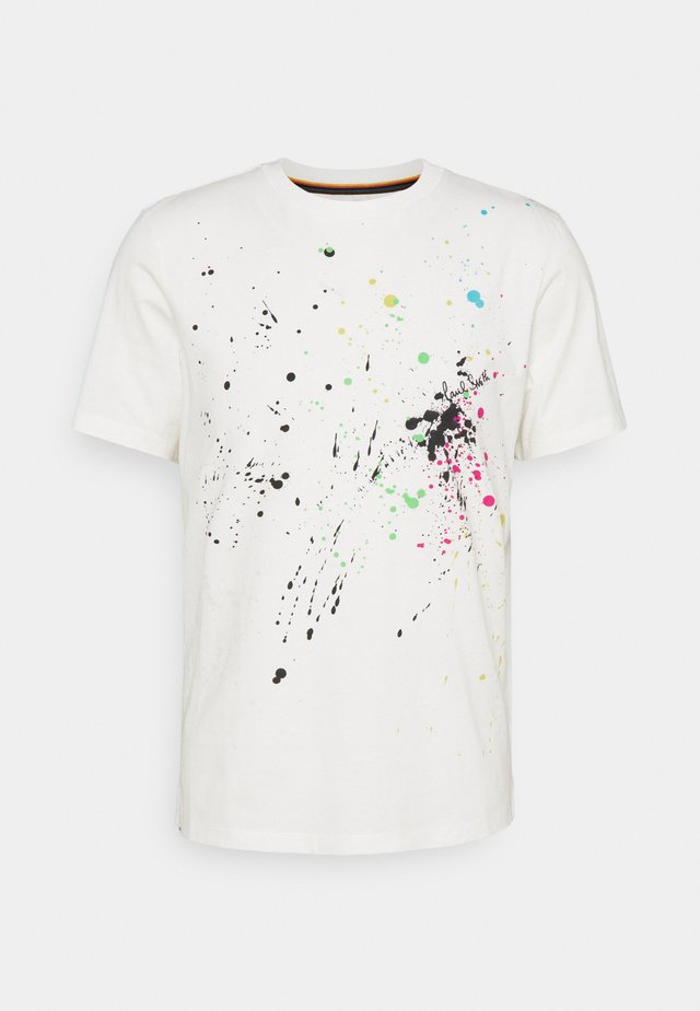 GENTS PAINT SPLATTER UNISEX - T-shirt imprimé - white