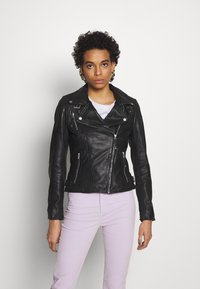 Freaky Nation - BIKER PRINCESS - Chaqueta de cuero - shadow - 0