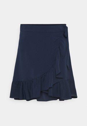 VIROSINA SKIRT - Wrap skirt - navy /solid