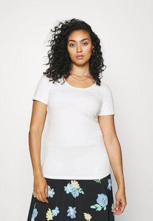 VMPAXI SOFT U NECK - Basic T-shirt - snow white