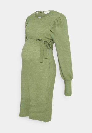 MLNEVA DRESS - Vestido de punto - hedge green melange