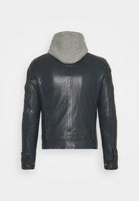 Serge Pariente - ERIK HOOD - Leather jacket - blue - 1
