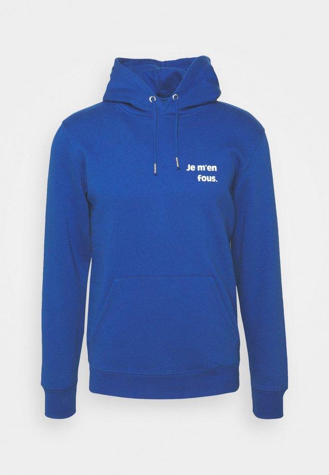 HOODIE JE M'EN FOUS UNISEX - Huppari - majorelle blue / white