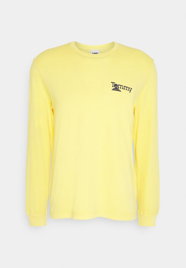BACK MOUNTAIN GRAPHIC TEE - Long sleeved top - valley yellow