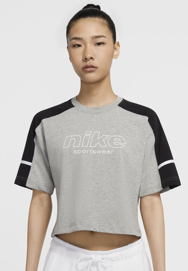 Nike Sportswear - ARCHIVE - Print T-shirt - dark grey heather/black/white