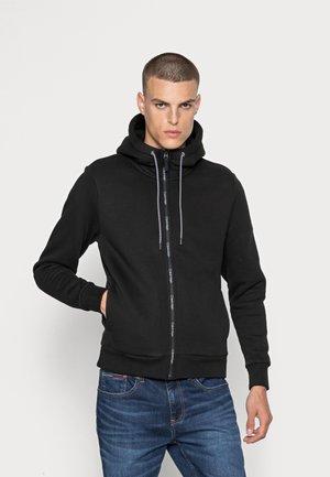 FUR LINED HOODIE - Zip-up sweatshirt - black