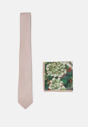 TIE + HANKIE SET - Stropdas - brown