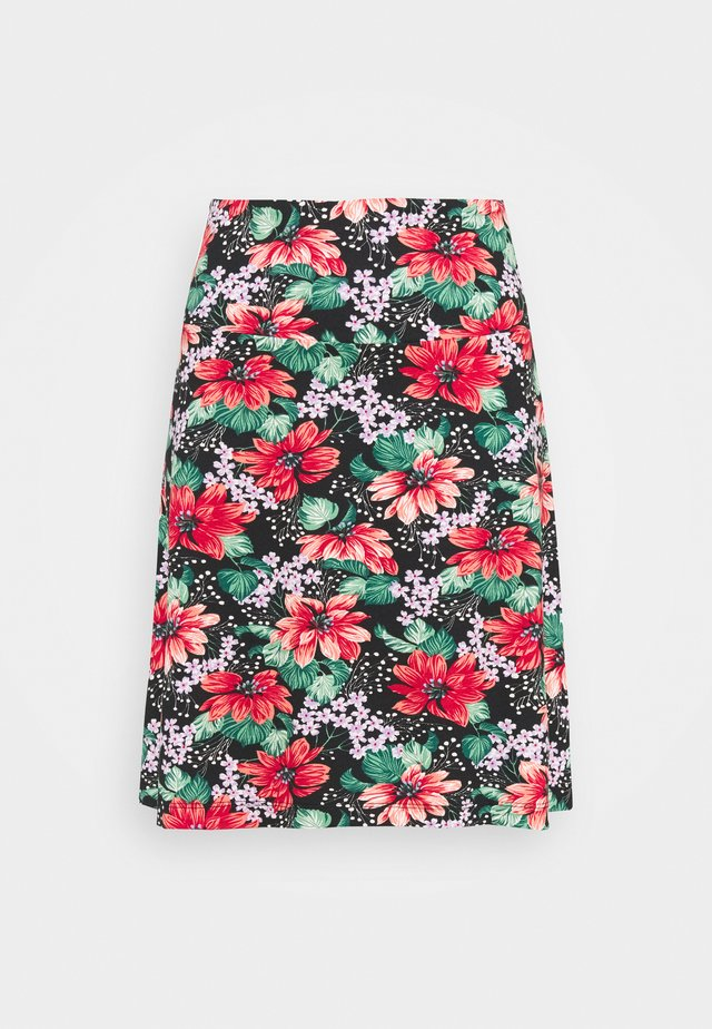BORDER SKIRT PACIFICA - A-line skirt - black