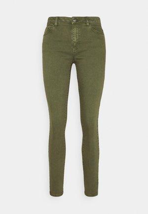 Skinny džíny - khaki green