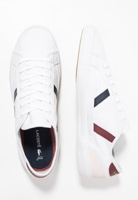 Lacoste - SIDELINE - Trainers - white/dark red/navy - 1