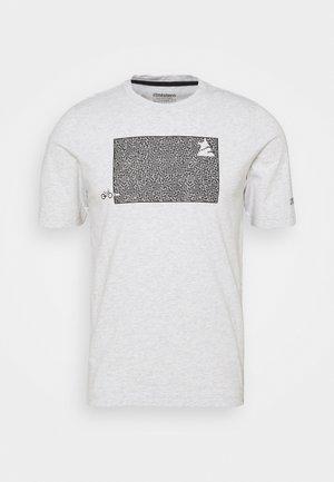 SHININGZ TEE MENS - Print T-shirt - glacier grey melange