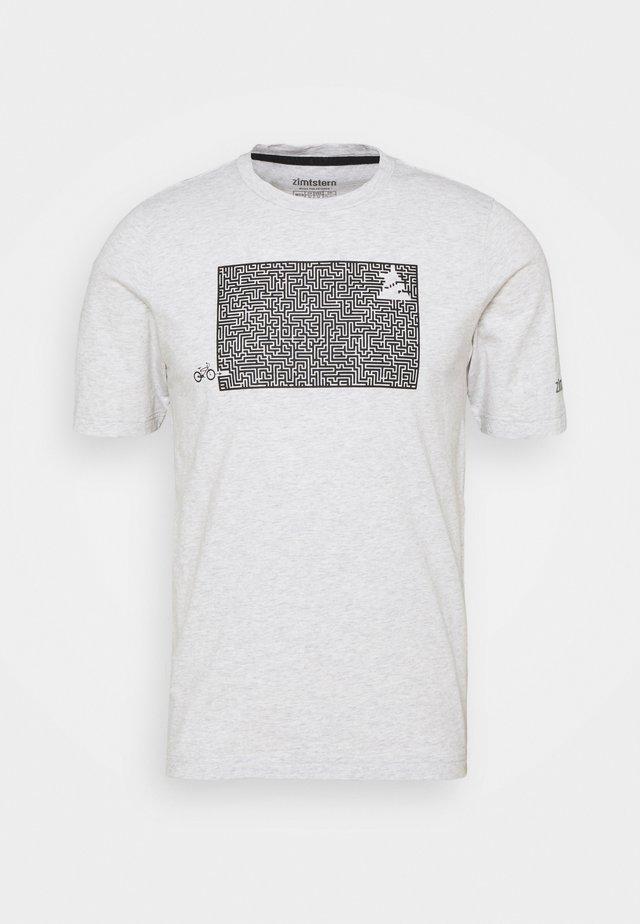 SHININGZ TEE MENS - T-shirt imprimé - glacier grey melange
