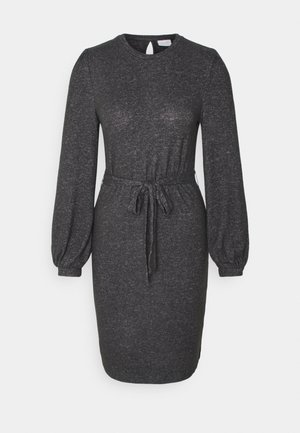 VIBULA DRESS - Jumper dress - dark grey melange
