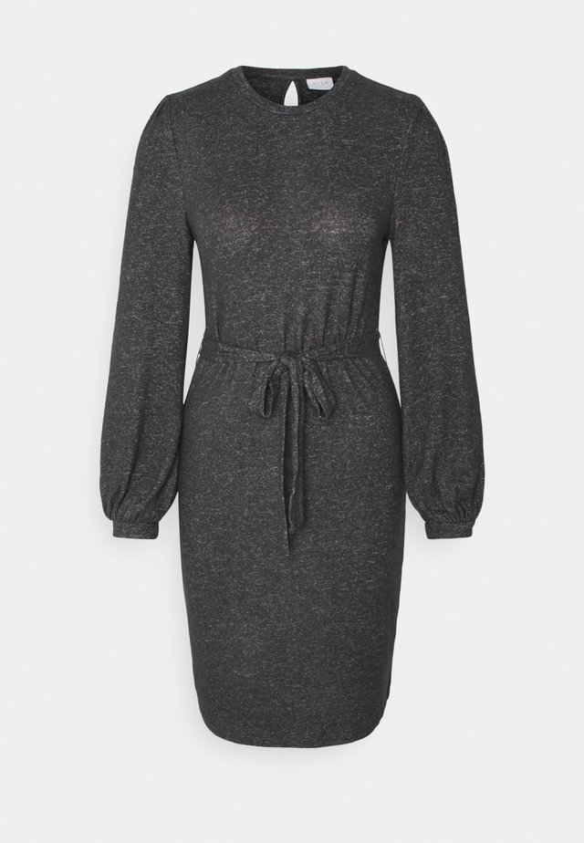 VIBULA DRESS - Sukienka dzianinowa - dark grey melange