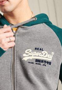 Superdry - Zip-up hoodie - dark grey - 0