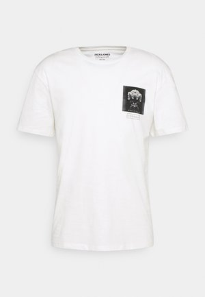 JORESO TEE CREW NECK - T-shirt imprimé - cloud dancer