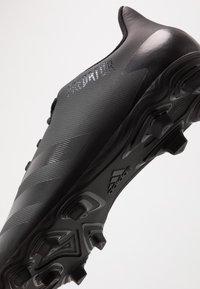 adidas Performance - PREDATOR - Voetbalschoenen met kunststof noppen - core black/dough solid grey - 2
