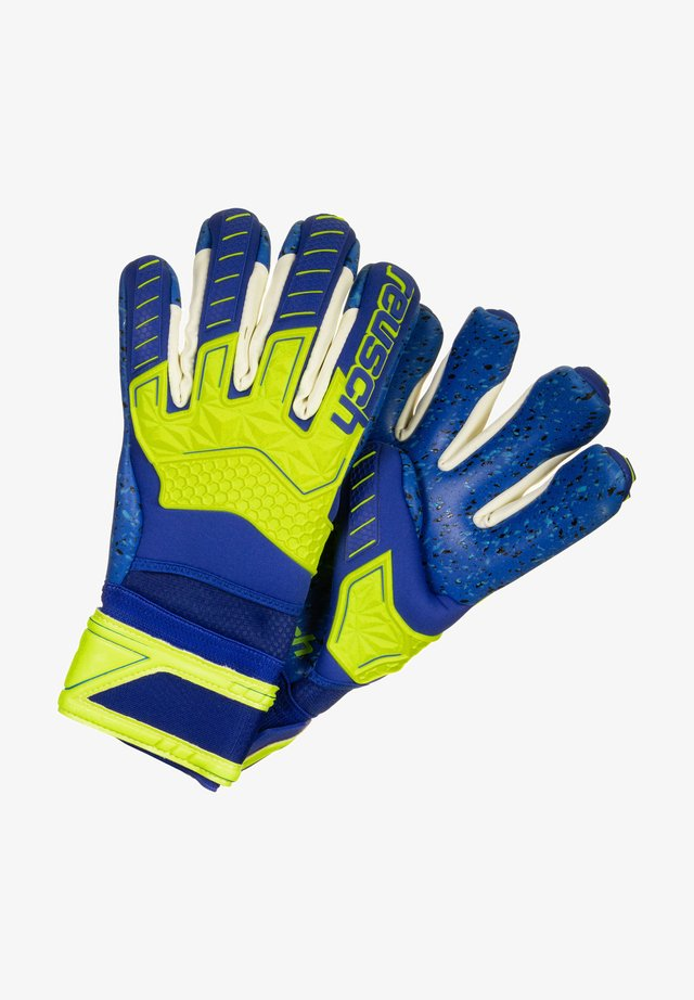 ATTRAKT FREEGEL G3 FUSION ORTHO-TEC LTD - Maalivahdin hanskat - safety yellow / deep blue