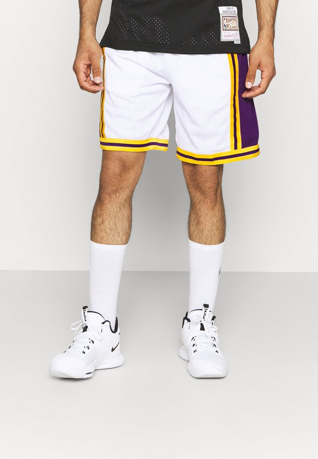 NBA LOS ANGELES LAKERS RELOAD SWINGMAN SHORT - Club wear - white