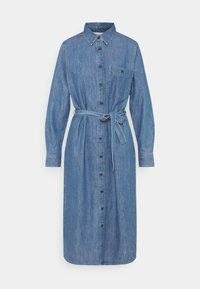 TOM TAILOR DENIM - BELTED DRESS - Day dress - blue denim - 6
