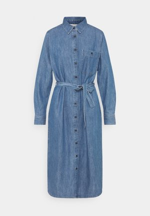 BELTED DRESS - Day dress - blue denim