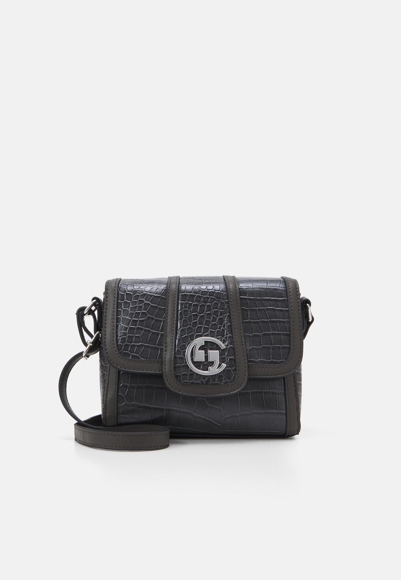 comma - A REAL LADY SHOULDERBAG - Across body bag - darkgrey