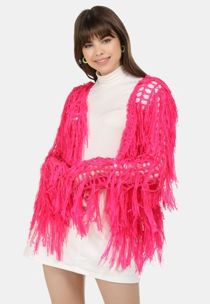 STRICKJACKE - Cardigan - neon pink