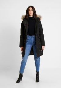 Canadian Classics - FUNDY BAY LONG FAKE FUR - Down coat - black - 1