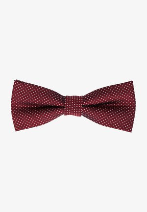 TUPFEN - Bow tie - dunkelhimbeere
