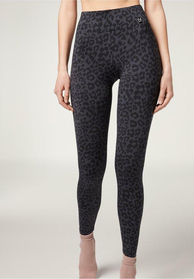 Leggings - Trousers - animalier grigio