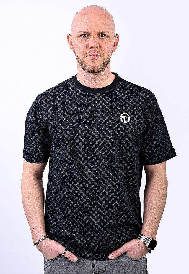 DIN  - T-shirt con stampa - black/white