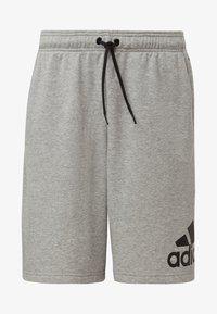 adidas Performance - MUST HAVES BADGE OF SPORT SHORTS - Sports shorts - gray - 5