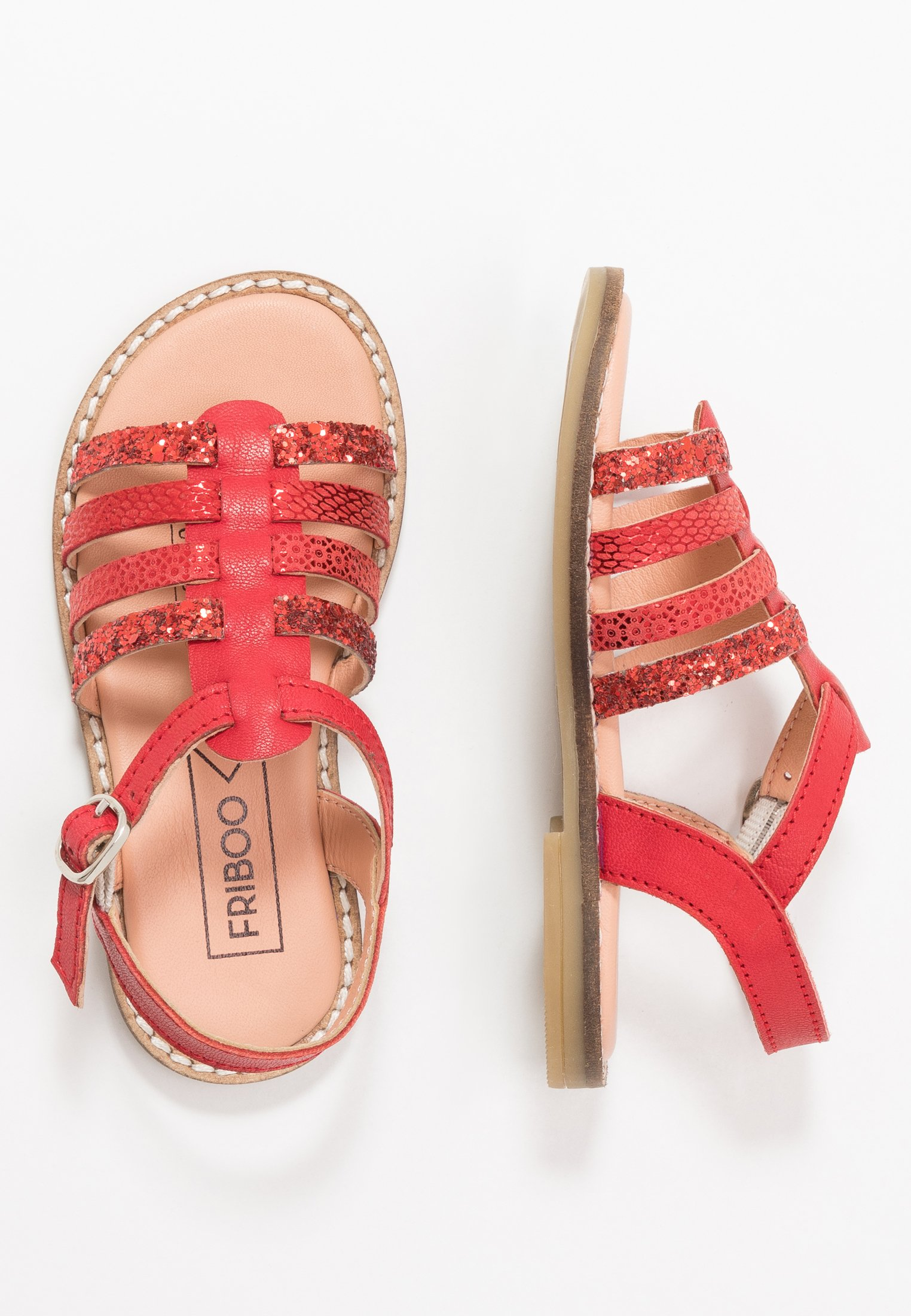 Kids LEATHER - Sandals - red