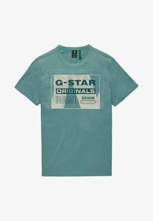 LAYER ORIGINALS - Print T-shirt - light bright nickel
