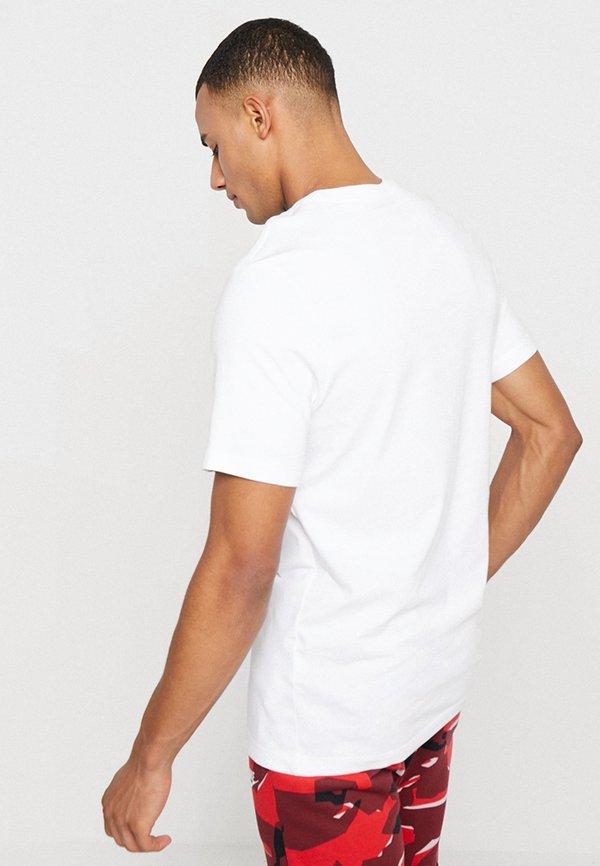 Nike Sportswear TEE ICON FUTURA - T-shirt z nadrukiem - white/black/university red/biały Odzież Męska WFTS