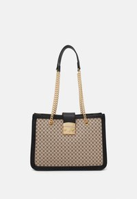 Handbag - beige/black