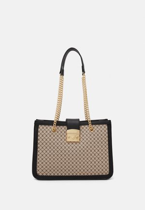 Handbag - beige/black