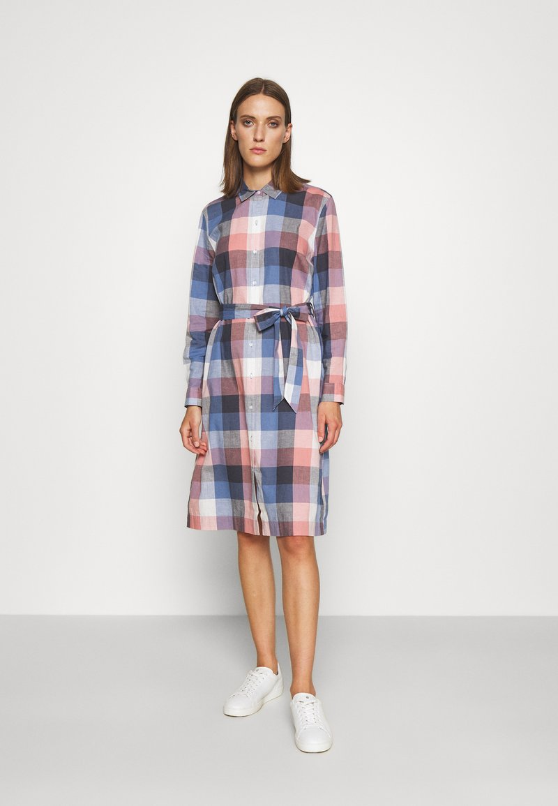 Barbour - TERN CHECK DRESS - Sukienka koszulowa - oyster pink
