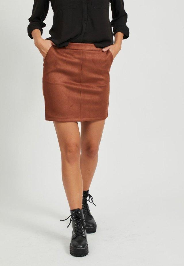 A-lijn rok - tobacco brown