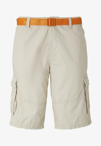 MIT SCHNALLENGÜRTEL - Shorts - light cashew beige