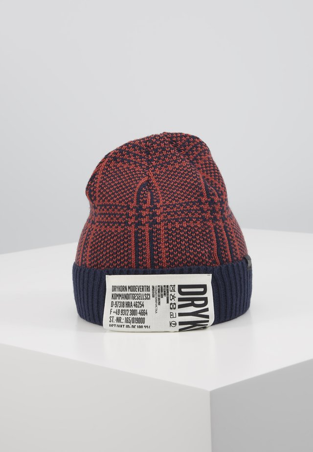 LARON - Bonnet - dark blue/red